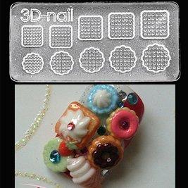 Freeshipping acrylic gel nails 3d nail art molds diy nail for 3d acrylic nail art mold diy decoration