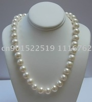huge 10-11mm SOUTH SEA white pearl necklace 18""