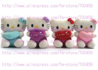 Hot sale! lots 24PCS  Heart Series hello kitty Children's lovely doll soft Toy Plush Toys +Free Shipping