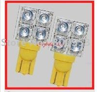Top Wholesale 194 168 T10 501 W5W T10 Wedge 4PCS Super Flux LED Signal Light LED Indicator Light LED Auto Car Light Bulbs