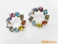 wholesales or resales zircon water-drop earrings diamond studs free shipping