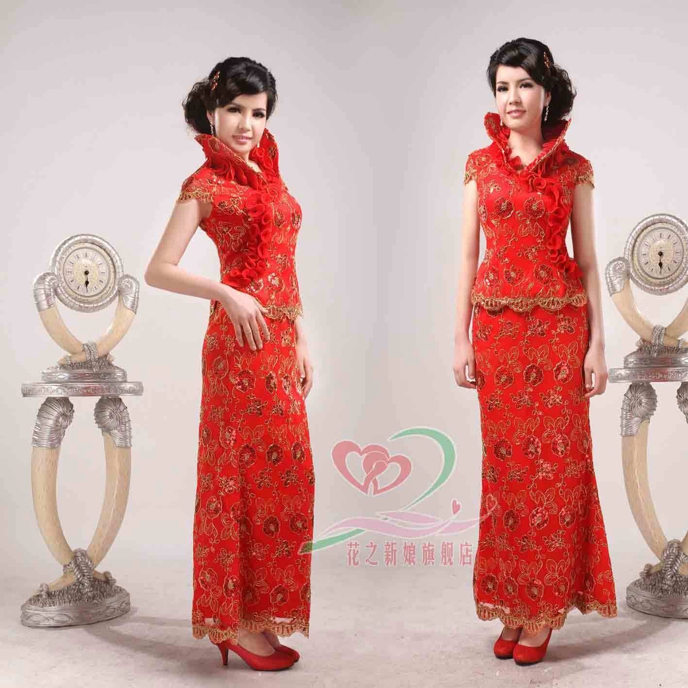 The manufacturer wholesale welcomes guests the Chinese dress, proposes a toast the clothing(China (Mainland))
