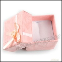 9x Fashion Square Pink Flower Paper Ring Box Jewelry & Gift Packing Display Box 40*40*32mm 120354