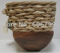 wholesale  12in bowls fiberglass planter with grass /garden urn (1pcs/lot)