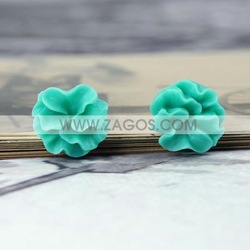 1000pcs Resin Flower Cabochon Beads,Flat Back,Aquamarine,16mmx16mmx6mm,Free Shipping,Jewelry Decoration,RB0534-10(China (Mainland))
