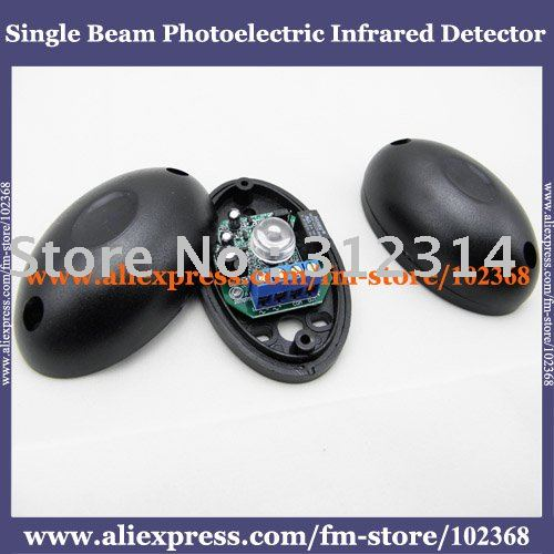 2pcs/lot Half Egg Shape Single Beam 20m Photoelectric Infrared Barrier Detector For Alarm AT-ABO-20 FREE SHIPPING DROP SHIPPING(China (Mainland))