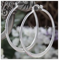 Free shipping 925 silver jewelry earrings - big circle