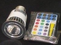 E27 1*5W LED RGB spotlight With Remote controller
