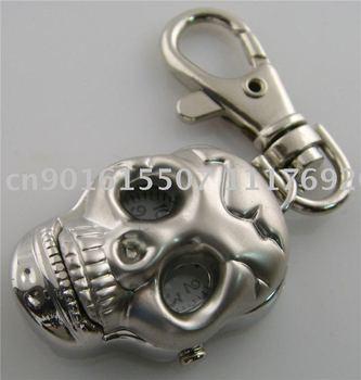 New Fashion Skull Head Keychain Pocket Pendant Watch free shipping  wholesale/Retail M2