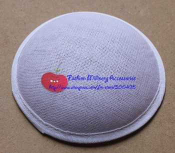 13cm White Millinery Form Round Buckram Base Fascinator Base For Women 20pcs/lot Free Shipping
