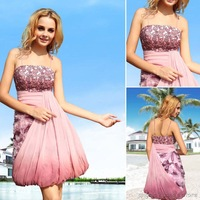 Custom-made Knee Length Evening dress prom dress party dress cocktail dress, free shipping