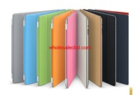 100 pcs Hot Selling For iPad 2 Case Smart Cover Case Microfiber Materials