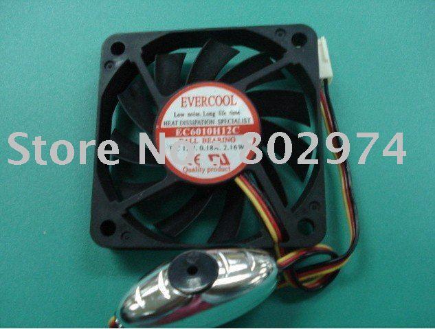 EVERCOOL 6010 EC6010H12C 12V 0.18A ball bearing Fan with alarm bell(China (Mainland))