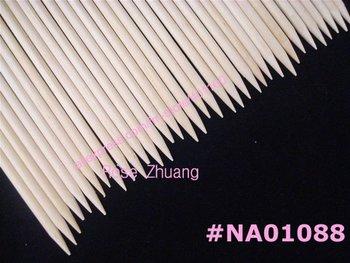 Freeshipping-100pcs Orange Wood Sticks Nail Art Cuticle Pusher Remover Wholesales SKU:F0048