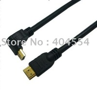 100pcs 90 Degree Elbow Connector 6FT 1.5M High Speed 1080P HDMI Cable A To A Type Free shipping