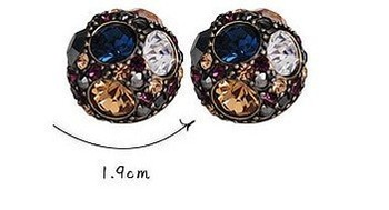 wholesale Factory Direct 20pair/lot,Fashion 925 Silver Diamond Earrings Free Shipping R2062-186-88