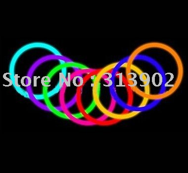 Fluorescent Grow Stick Night Bracelets Light Ring Party Favour christmas gift light up toys(Hong Kong)