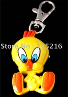 New Yellow Tweety Bird Key Chain Quartz Pendant Watch free shipping  wholesale/Retail M3