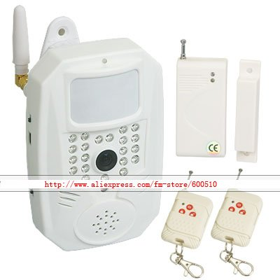 Security GSM Alarm System w/ PIR IR Camera Door Magnet Free Shipping!!!(China (Mainland))