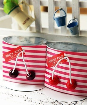 Free Shipping 2014 New style Cherry headphone earphone for MP3, MP4 earphone with nice fruit basket package,for women 10pcs