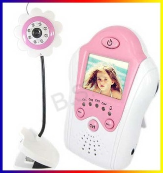 """Hot! 1.5"""" LCD Wireless Baby Monitor 2.4G Wireless Camera Pink Voice Control +free shipping"""