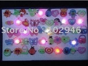 Free shipping 100pcs/lot Flash Ring,Finger Light,Christmas Gift Accept