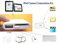 10pcs 2 in 1 Camera Connection Kit Card Reader for iPad 1 iPad 2 USB and SD Card Interface