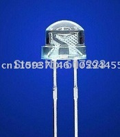 High brightness white LED light emitting diode 5MM straw hat   Free Shipping