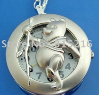 Cute Bear Pendant Necklace Quartz Watch Xmas Bag  free shipping  wholesale/Retail M2