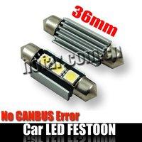 CANBUS Error Free 36mm C5W Interior Festoon LED Xenon White 80 Pieces/Lot DHL Free Shipping