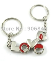 HOT SELLING Love + Arrow Metal Keychain Fashion Keyholder Anniversary Gift 60pairs/ Lot Free Shipping