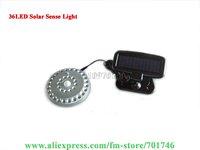 36LED Solar infrared sensor light 100% solar powered No battery needed 24pcs/lot Free shipping