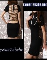 Wholesale Best-taste V20 Elegant Turtleneck Cocktail Clubwear Mini Dress Black M