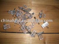 transparent color samll short design plastic clips for pvc badge holder or bags