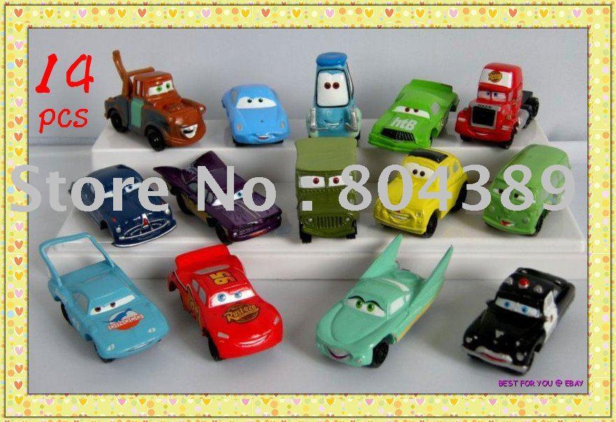 Free shipping/New listing/14 pcs/lot mini Pixar Cars figure FULL SET New (pieces/lot)(China (Mainland))