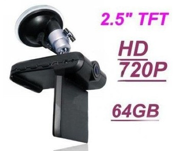 Hot Selling  New Car HD Camera Accident Recorder DVR 720p 2.5 TFT Sport Car MINI DV camera DVR, wholesale