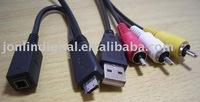Camera AV+USB Cable For Sony W350/W360/W380/W390
