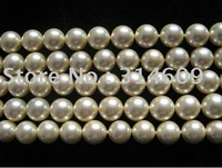 Free Shipping Hot Sale A Shell Pearl Bracelet Beads Beige/Round 8mm 16""