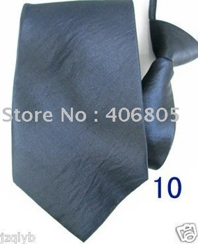 Free shipping 6pcs Upscale Gray mens necktie zipper zip up neck tie