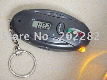 20pcs Personal breath alcohol tester breath alcohol tester, mini alcohol tester, alcohol detector with clock timer flashlight