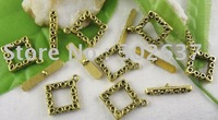 FREE SHIPPING 60sets Antiqued gold square toggle clasps A5017G