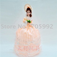 Delicate 24-inch marriage umbrella doll,hot wholesale and retail