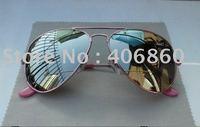 1pc free shipping Men's sunglasses pink frame Mirror Lens Man's/Woman's sunglasses