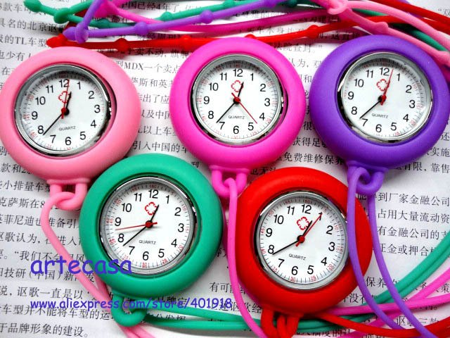 Hot Sales Free Shipping Paypal Support 120 pcs/Lot Necklace Nurse Watch(China (Mainland))