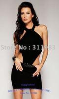 Платье для вечеринки 2012 New, black mini party dress, fashion dress, 68854