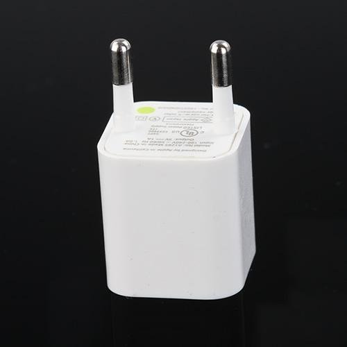 wholesale - 50pcs/lot euro AC Power USB Wall Charger For iPhone 4 3G 3GS iPod quality guaranteed(China (Mainland))