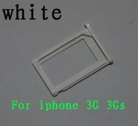 Lots of 100 Pcs White SIM Card Slot Tray Holder for Apple iPhone 3G 3GS