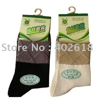 Hot sale 12pcs/lot, Ladies socks, Bamboo socks, Black & beige color, High quality Wholesale & Free shipping