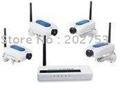 200 metros de longa distância sem fio kit câmera com 4 câmeras de segurança(China (Mainland))