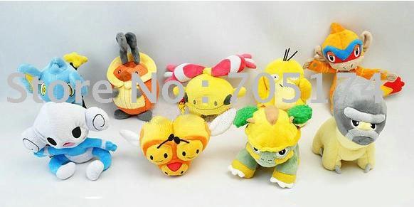wholesale POCKET MONSTER 9 pattern Plush Doll POKEMON Toys(China (Mainland))